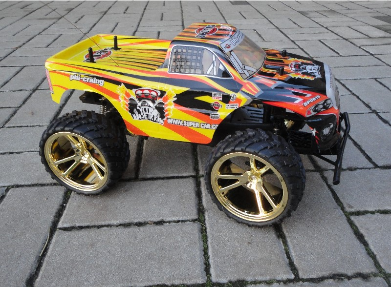 rc monster truck 45 cm mit gro en r dern und federung rtr. Black Bedroom Furniture Sets. Home Design Ideas