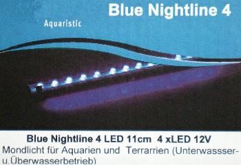 Mondlich Nachtlicht 4 LED 11cm lang Wasserdicht DEKO