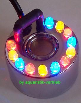Ultraschall Zerstäuber Nebler mit 12 bunten LED s Netzteil