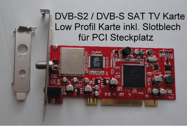 PCI SAT TV Karte DVB-S2 Full HDTV Mpeg4 DVB-S