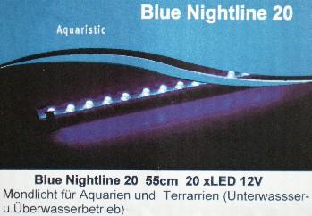 Mondlich Nachtlicht 20 LED 55cm lang Wasserdicht DEKO