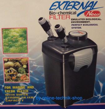 Aquarien-Außenfilter für Aquarien bis 250 Liter